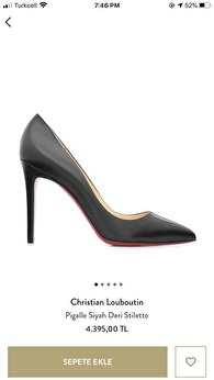 Siyah Christian Louboutin Stiletto 0