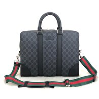 Lacivert Gucci Laptop/İpad Çantası 0