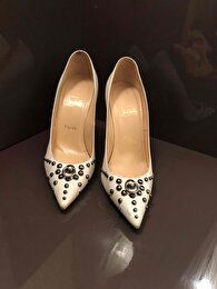 Beyaz Christian Louboutin Stiletto 3