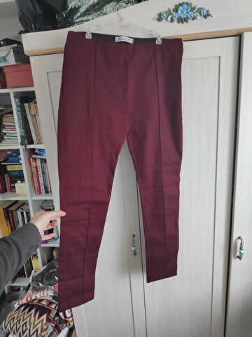 Bordo Love My Body Skinny Pantolon
