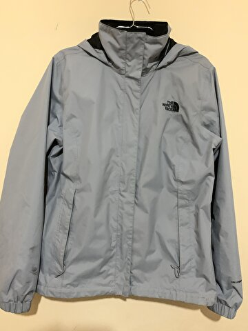 Gri The North Face Yağmurluk