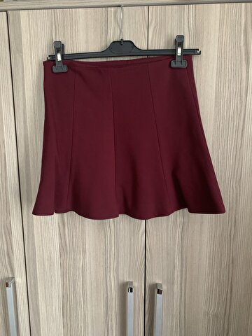 Bordo Modagram Mini Etek