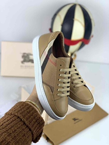 Camel Burberry Sneakers