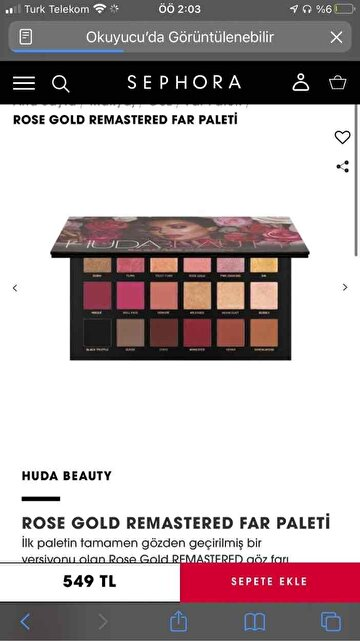 Huda Beauty Göz Farı