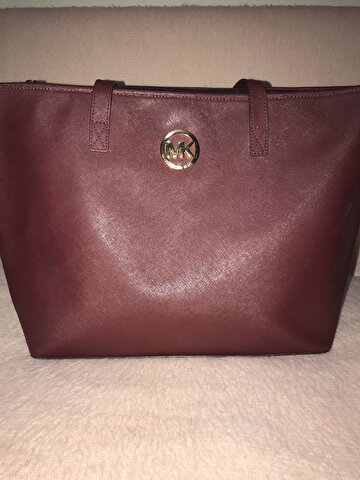 Bordo Michael Kors Kol Çantası