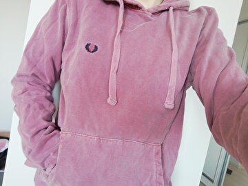 Pembe Fred Perry Sweatshirt