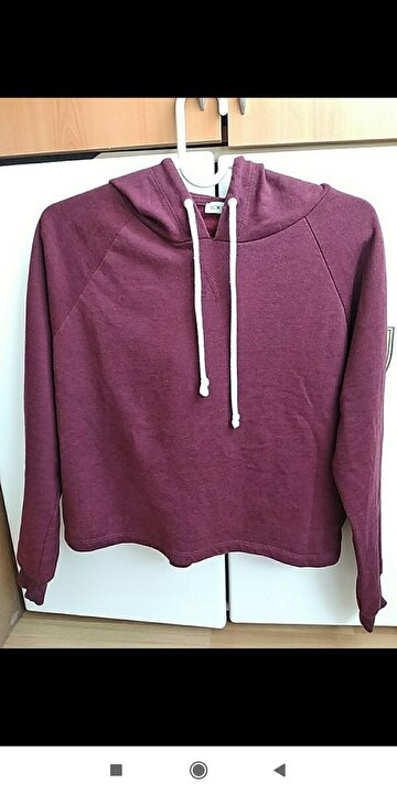 Bordo LCWAİKİKİ Sweatshirt