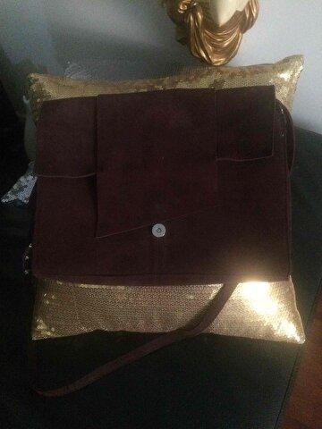 Bordo Mango Clutch/Portföy