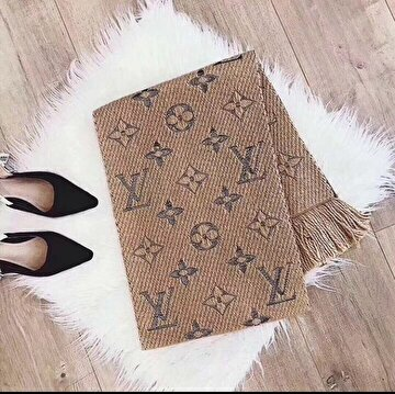 Bej Louis Vuitton Atkı/Şal