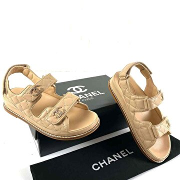 Bej Chanel Sneakers