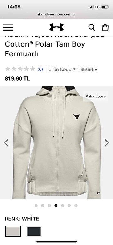 Siyah Under Armour Mont