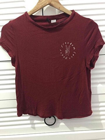 Bordo H&M Tişört