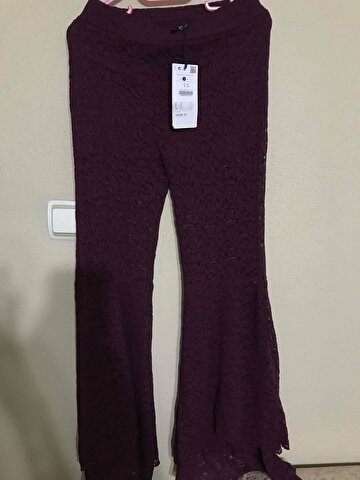 Bordo Bershka Casual Pantolon