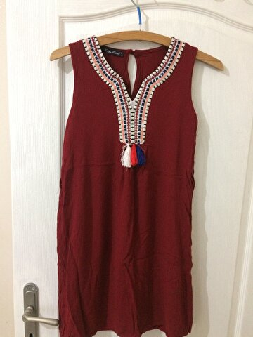 Bordo My Dress Shop Mini Elbise 8 TL 1