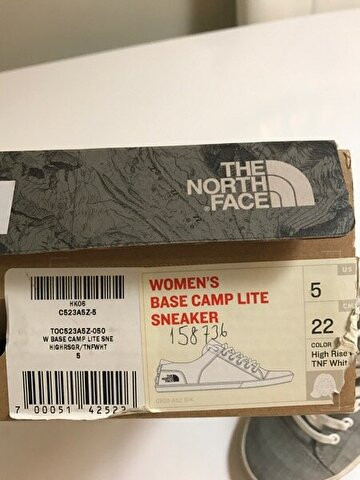 Gri The North Face Sneakers 100 TL 2