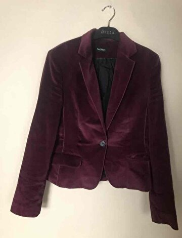Bordo Network Blazer Ceket