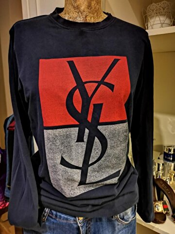 Lacivert Yves Saint Laurent Sweatshirt