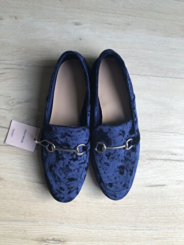 Lacivert Pull & Bear Loafer