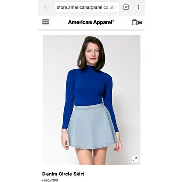 Mavi American Apparel Mini Etek