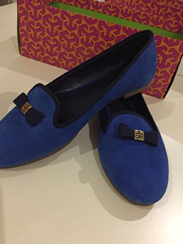 Lacivert Tory Burch Loafer 445 TL 2