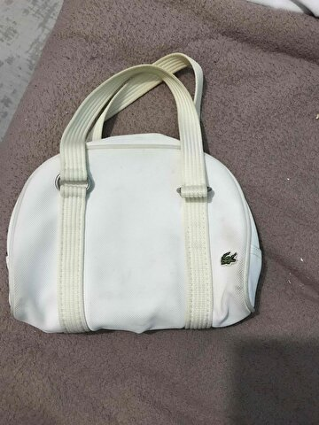 Beyaz Lacoste Tote