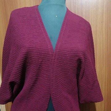 Bordo Saten Blazer Ceket