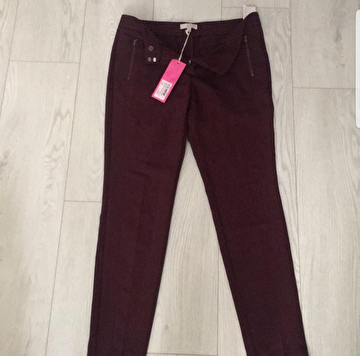 Bordo Twist Casual Pantolon