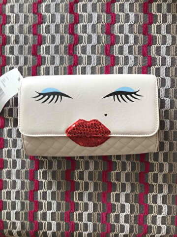 Krem Betsey Johnson Clutch/Portföy