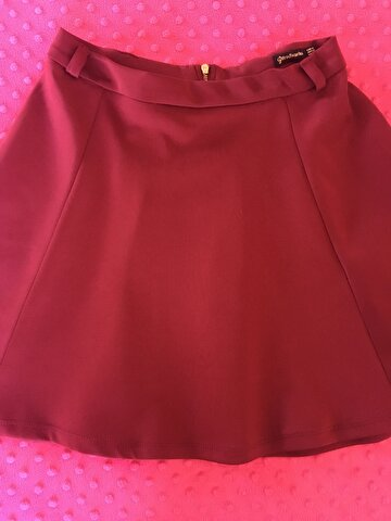 Bordo Stradivarius Mini Etek