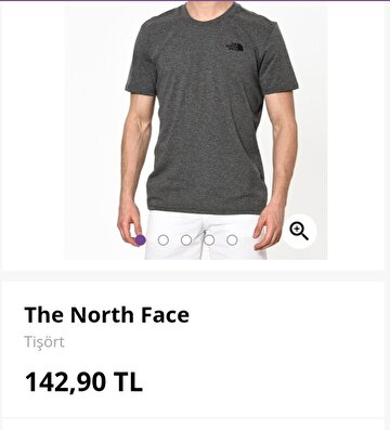 Gri The North Face Tişört 89 TL 0