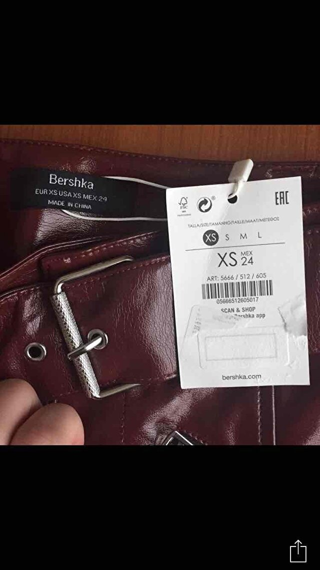 Bordo Bershka Mini Etek 1