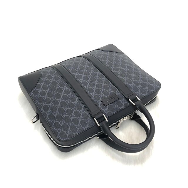 Lacivert Gucci Laptop/İpad Çantası 3