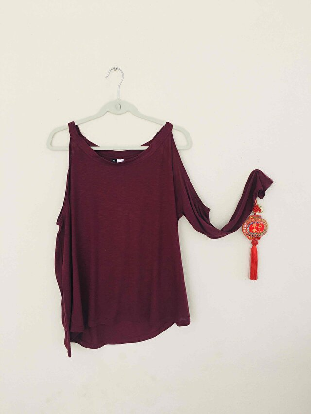 Bordo H&M Bluz 1