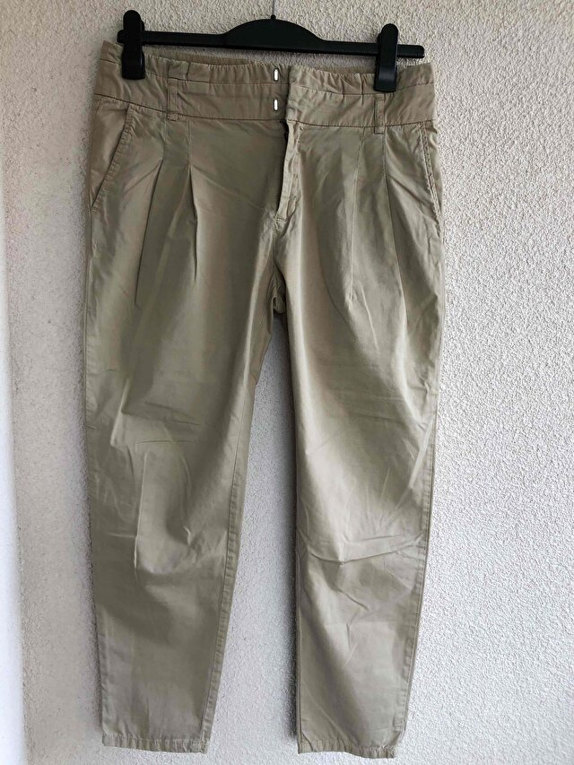 Bej boy friend pantalon