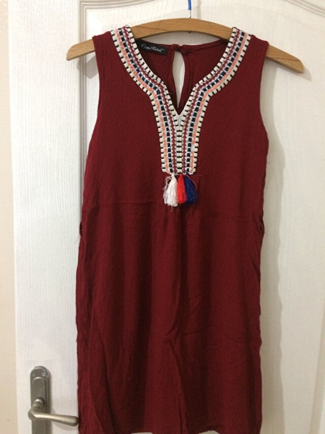 Bordo My Dress Shop Mini Elbise 8 TL 0