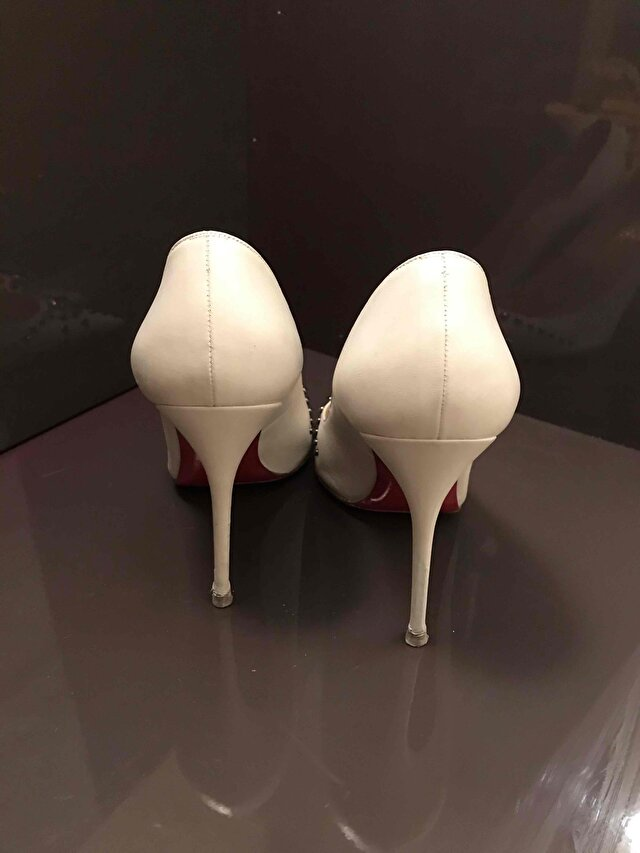 Beyaz Christian Louboutin Stiletto 5