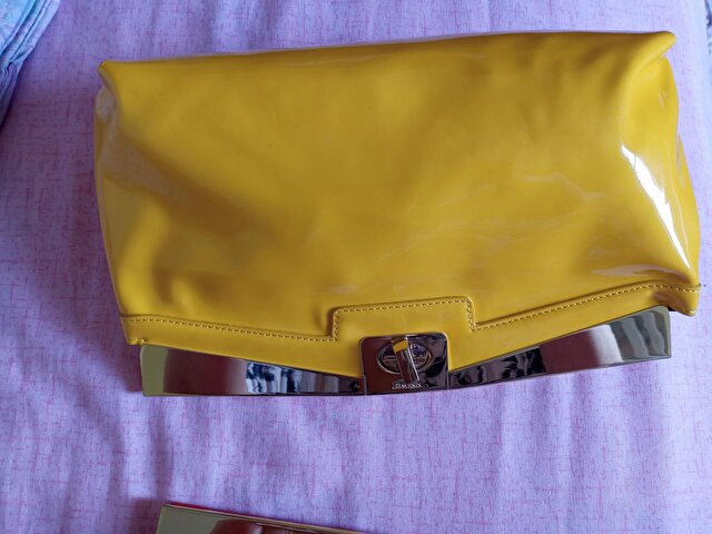 Sarı Nine West Clutch/Portföy 2
