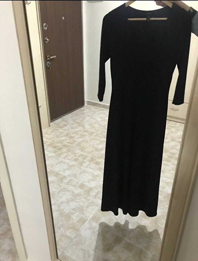 Siyah Forever 21 Maxi Elbise 300 TL 6