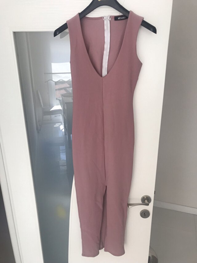 Pembe Missguided Maxi Elbise 60 TL 1