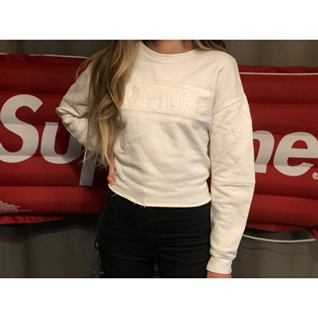 Zara crop sweatshirt