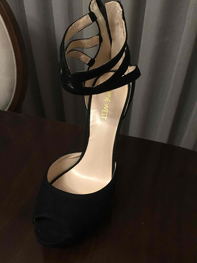 Siyah Nine West Stiletto 6
