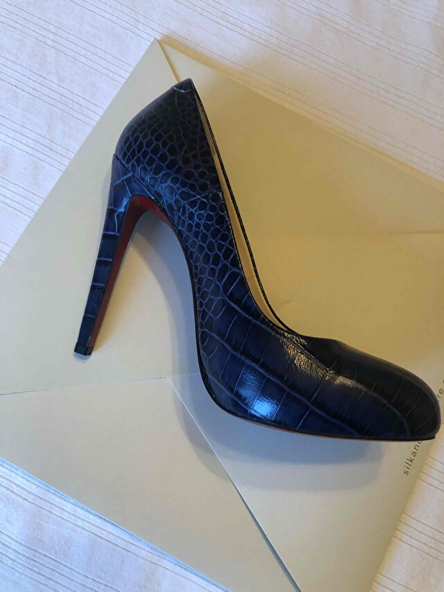 Lacivert Matraş Stiletto 1
