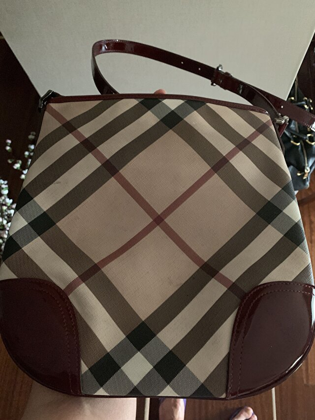 Burberry Capraz Bordo Askili Canta