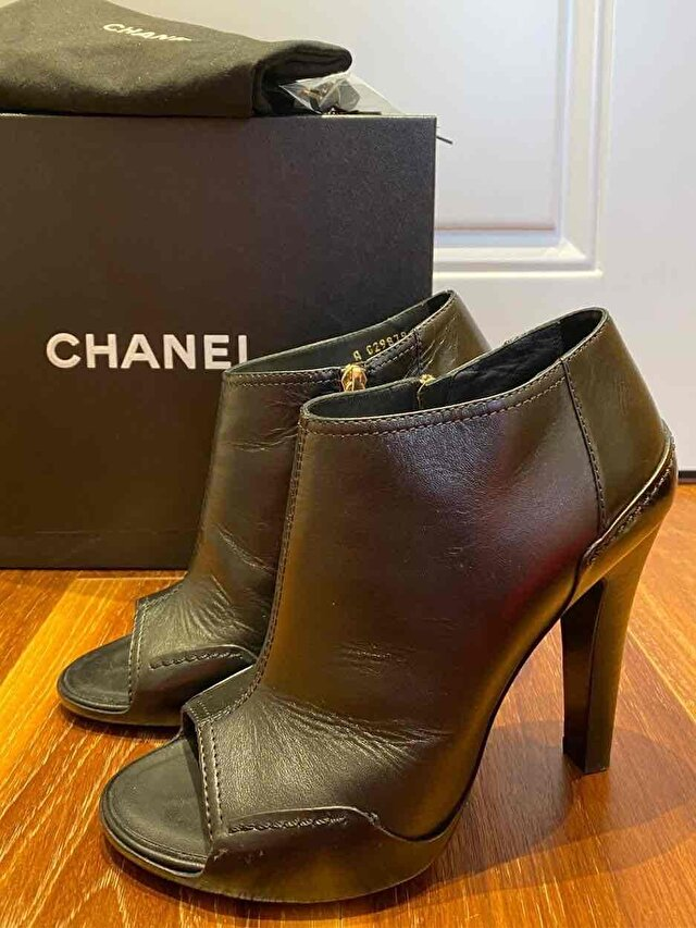 Chanel Open toe boots
