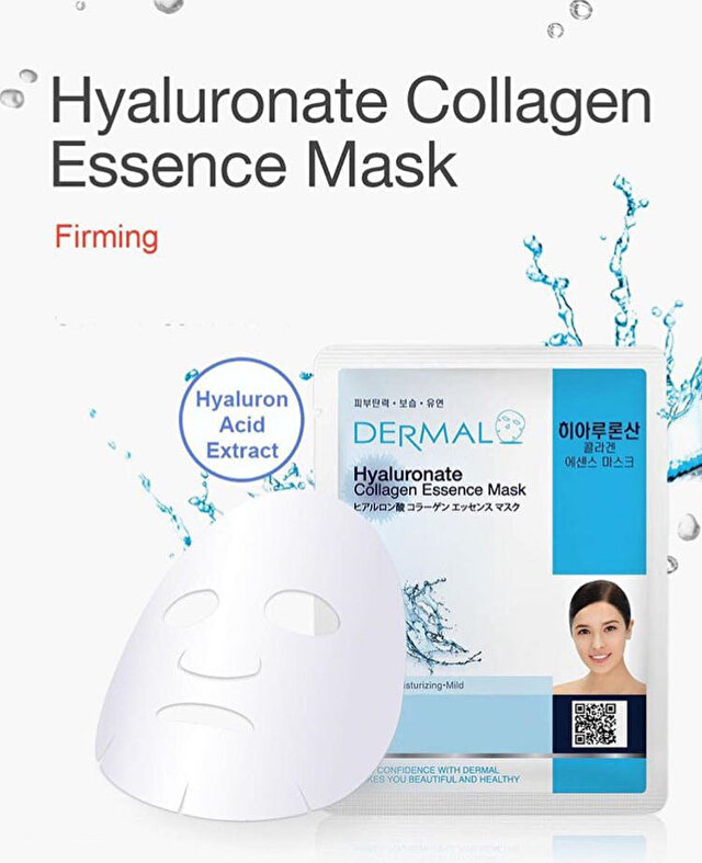20 Adet Dermal Hyaluronate Collagen Essence Mask