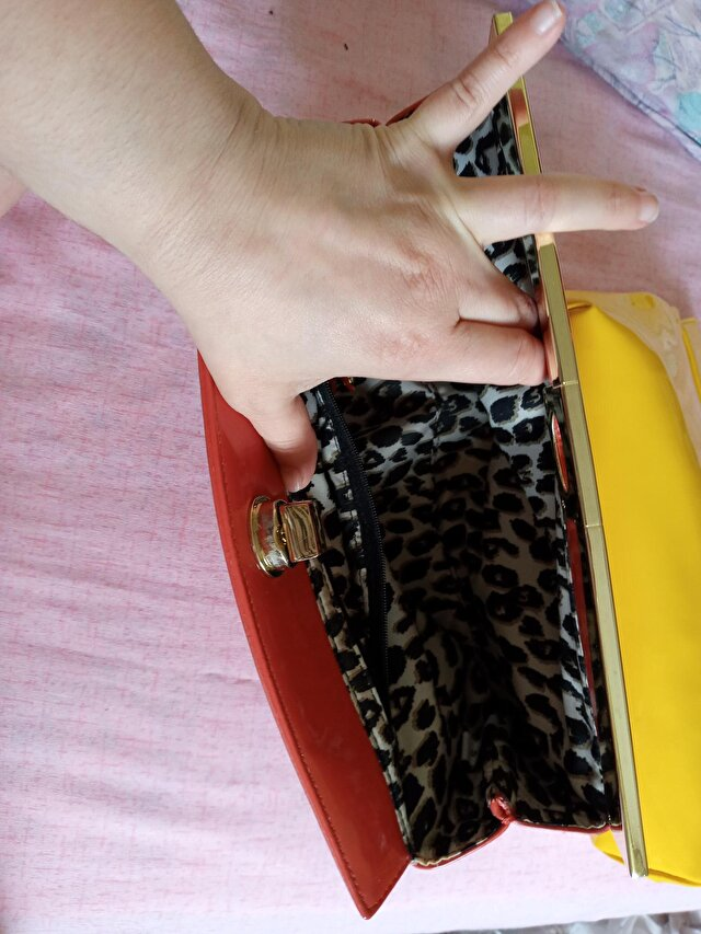 Sarı Nine West Clutch/Portföy 5